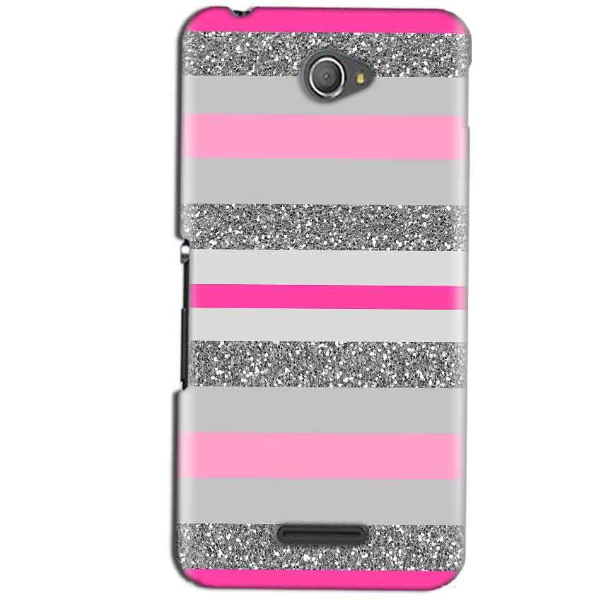 Sony Xperia E4 Mobile Covers Cases Pink colour pattern - Lowest Price - Paybydaddy.com