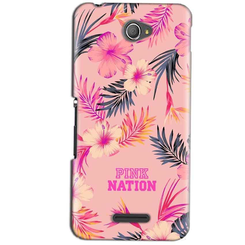 Sony Xperia E4 Mobile Covers Cases Pink nation - Lowest Price - Paybydaddy.com