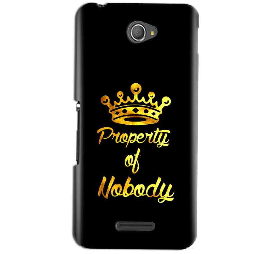 Sony Xperia E4 Mobile Covers Cases Property of nobody with Crown - Lowest Price - Paybydaddy.com