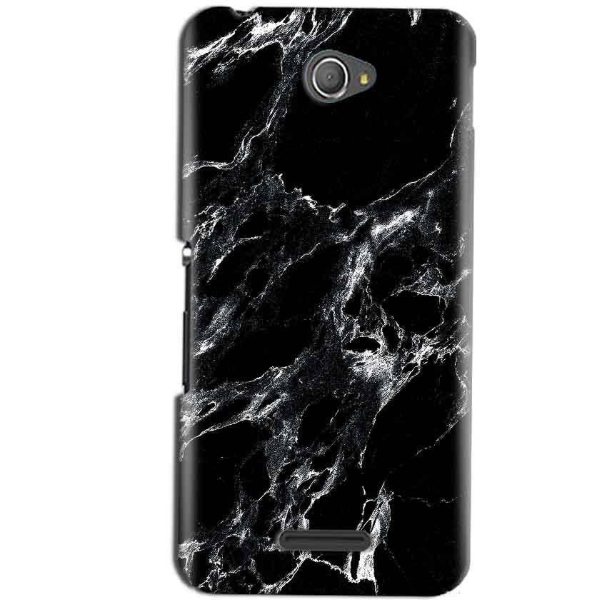 Sony Xperia E4 Mobile Covers Cases Pure Black Marble Texture - Lowest Price - Paybydaddy.com