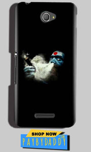 Sony Xperia E4 Mobile Covers Cases Shiva Aghori Smoking - Lowest Price - Paybydaddy.com