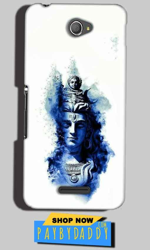Sony Xperia E4 Mobile Covers Cases Shiva Blue White - Lowest Price - Paybydaddy.com