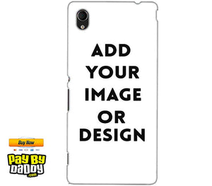 Pic on Cover / Photo Back Cover / Customized Mobile Covers For  Sony Xperia M4 Aqua
