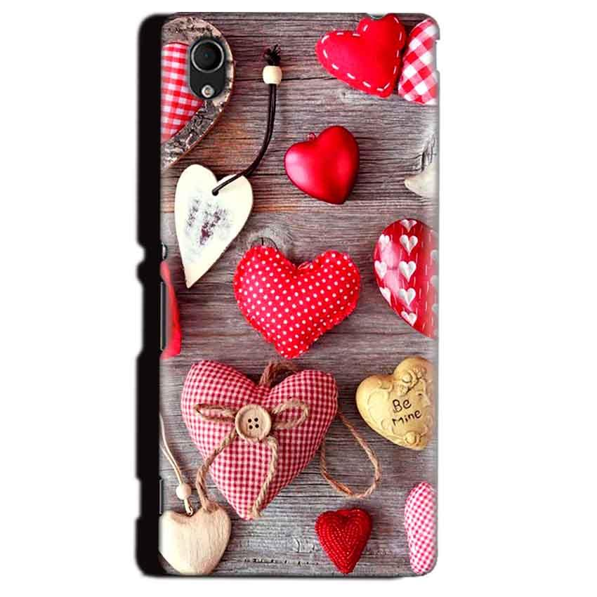 Sony Xperia M4 Aqua Mobile Covers Cases Hearts- Lowest Price - Paybydaddy.com