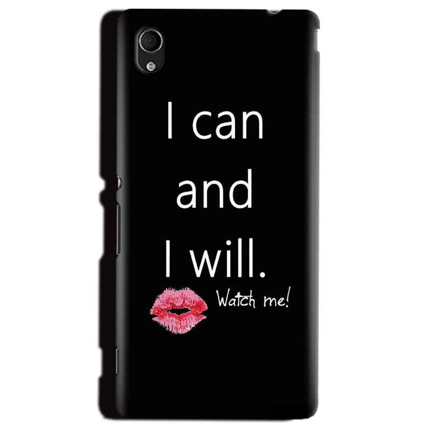 Sony Xperia M4 Aqua Mobile Covers Cases i can and i will Lips - Lowest Price - Paybydaddy.com