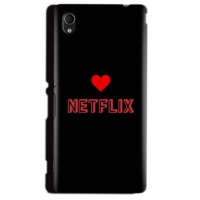 Sony Xperia M4 Aqua Mobile Covers Cases NETFLIX WITH HEART - Lowest Price - Paybydaddy.com