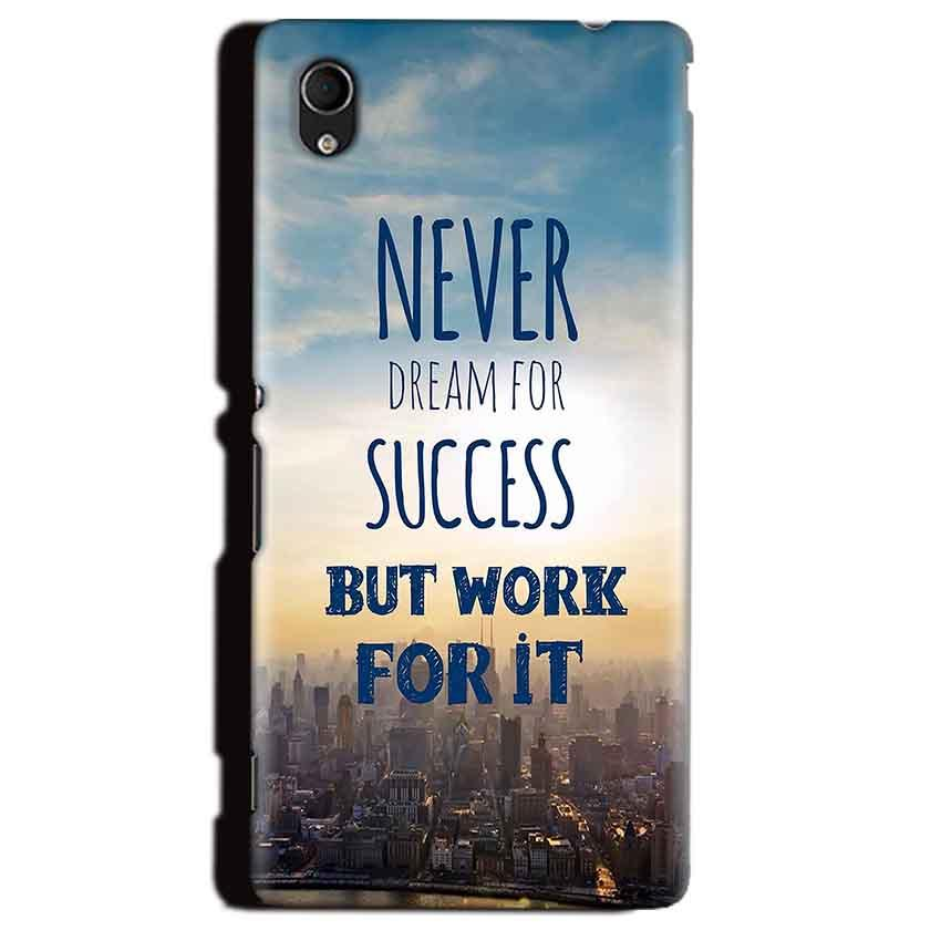 Sony Xperia M4 Aqua Mobile Covers Cases Never Dreams For Success But Work For It Quote - Lowest Price - Paybydaddy.com