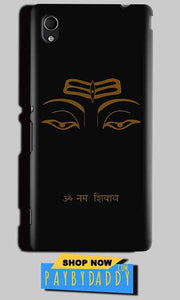 Sony Xperia M4 Aqua Mobile Covers Cases Om Namaha Gold Black - Lowest Price - Paybydaddy.com