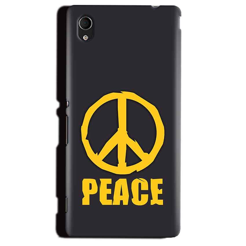 Sony Xperia M4 Aqua Mobile Covers Cases Peace Blue Yellow - Lowest Price - Paybydaddy.com
