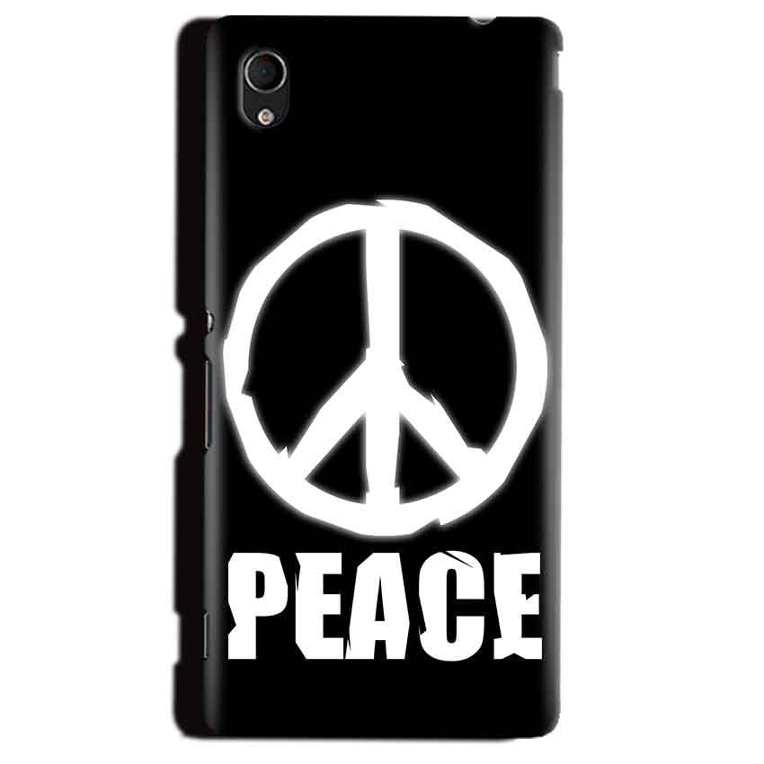 Sony Xperia M4 Aqua Mobile Covers Cases Peace Sign In White - Lowest Price - Paybydaddy.com
