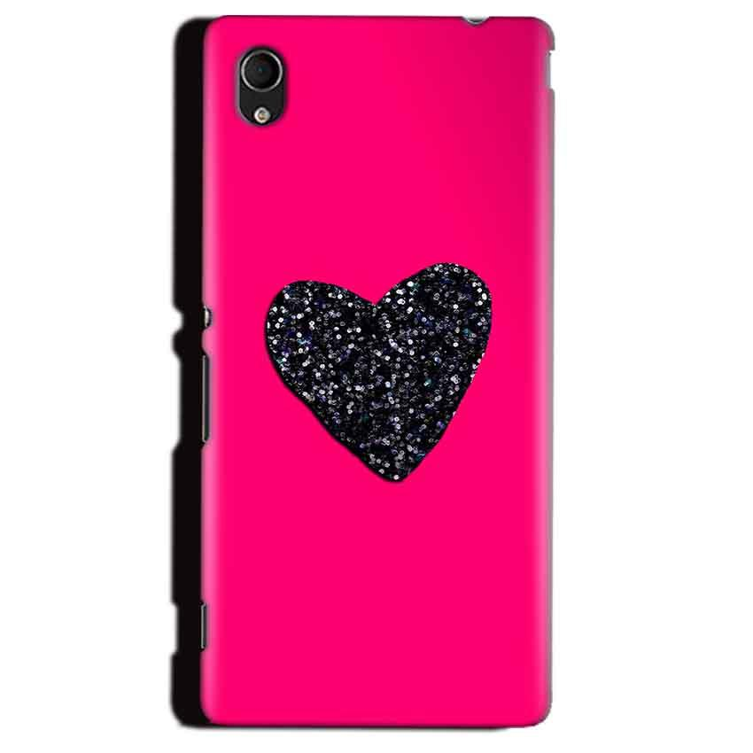 Sony Xperia M4 Aqua Mobile Covers Cases Pink Glitter Heart - Lowest Price - Paybydaddy.com