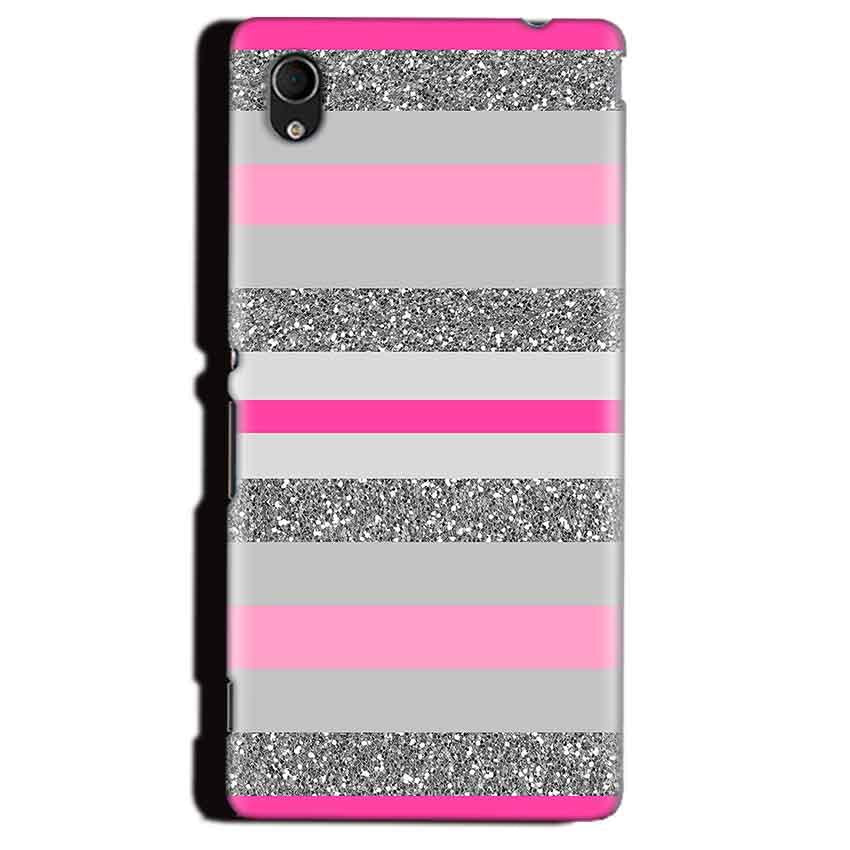 Sony Xperia M4 Aqua Mobile Covers Cases Pink colour pattern - Lowest Price - Paybydaddy.com