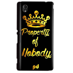Sony Xperia M4 Aqua Mobile Covers Cases Property of nobody with Crown - Lowest Price - Paybydaddy.com