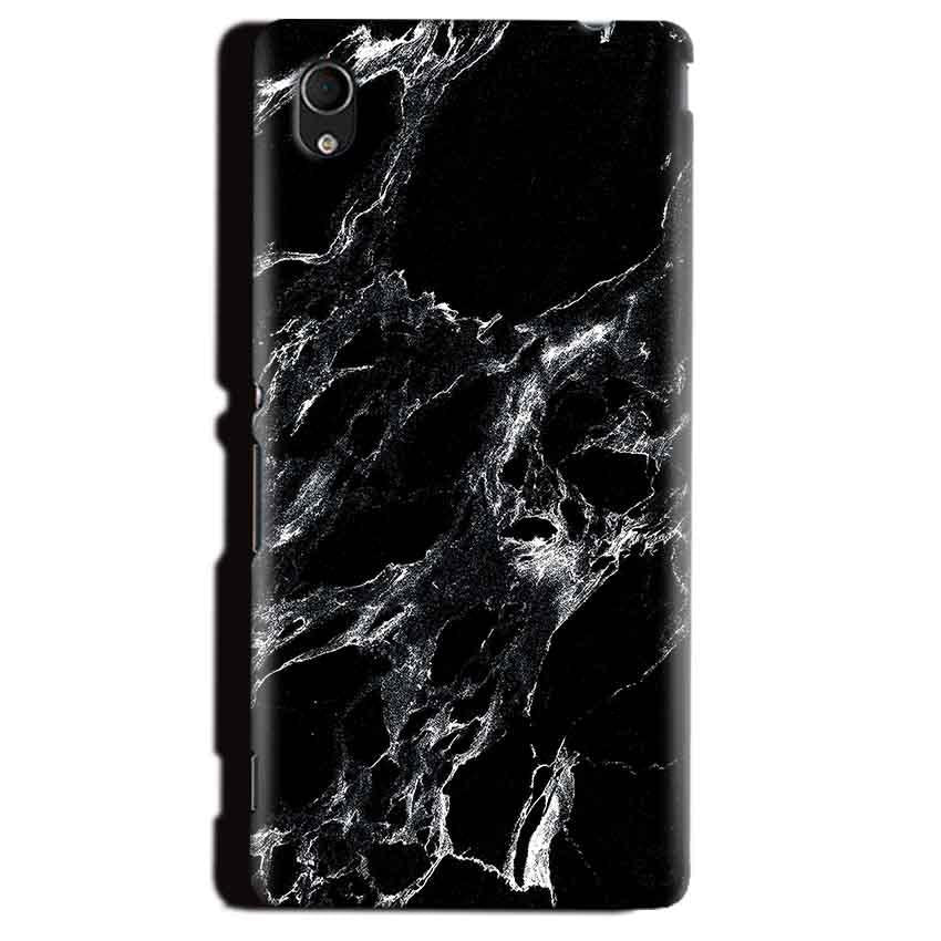 Sony Xperia M4 Aqua Mobile Covers Cases Pure Black Marble Texture - Lowest Price - Paybydaddy.com