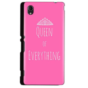 Sony Xperia M4 Aqua Mobile Covers Cases Queen Of Everything Pink White - Lowest Price - Paybydaddy.com