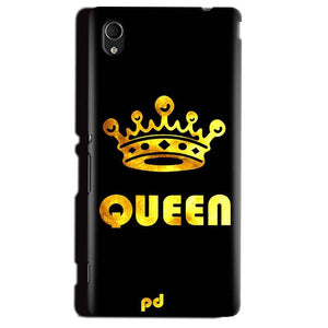 Sony Xperia M4 Aqua Mobile Covers Cases Queen With Crown in gold - Lowest Price - Paybydaddy.com