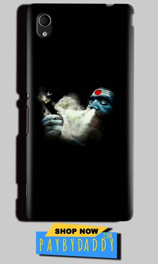 Sony Xperia M4 Aqua Mobile Covers Cases Shiva Aghori Smoking - Lowest Price - Paybydaddy.com
