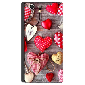 Sony Xperia M5 Mobile Covers Cases Hearts- Lowest Price - Paybydaddy.com