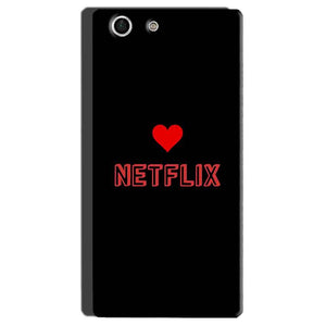 Sony Xperia M5 Mobile Covers Cases NETFLIX WITH HEART - Lowest Price - Paybydaddy.com