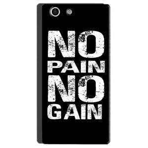 Sony Xperia M5 Mobile Covers Cases No Pain No Gain Black And White - Lowest Price - Paybydaddy.com