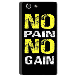 Sony Xperia M5 Mobile Covers Cases No Pain No Gain Yellow Black - Lowest Price - Paybydaddy.com