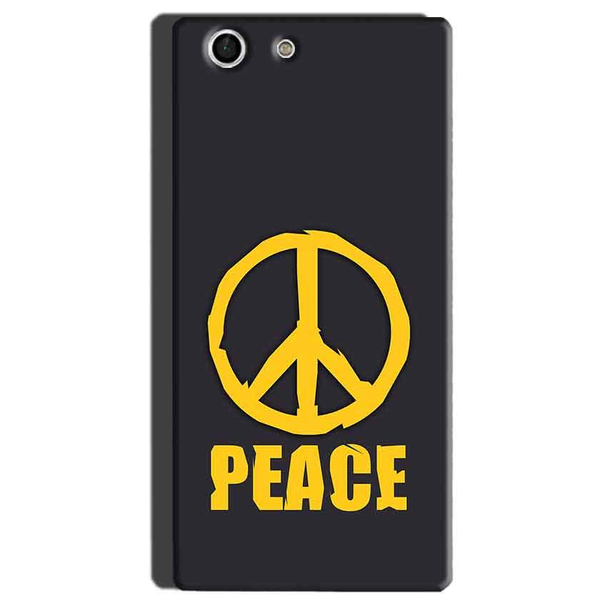 Sony Xperia M5 Mobile Covers Cases Peace Blue Yellow - Lowest Price - Paybydaddy.com