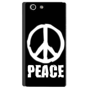 Sony Xperia M5 Mobile Covers Cases Peace Sign In White - Lowest Price - Paybydaddy.com