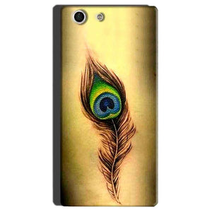 Sony Xperia M5 Mobile Covers Cases Peacock coloured art - Lowest Price - Paybydaddy.com
