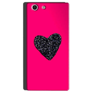Sony Xperia M5 Mobile Covers Cases Pink Glitter Heart - Lowest Price - Paybydaddy.com