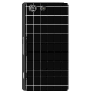 Sony Xperia M5 Pro Mobile Covers Cases Black with White Checks - Lowest Price - Paybydaddy.com