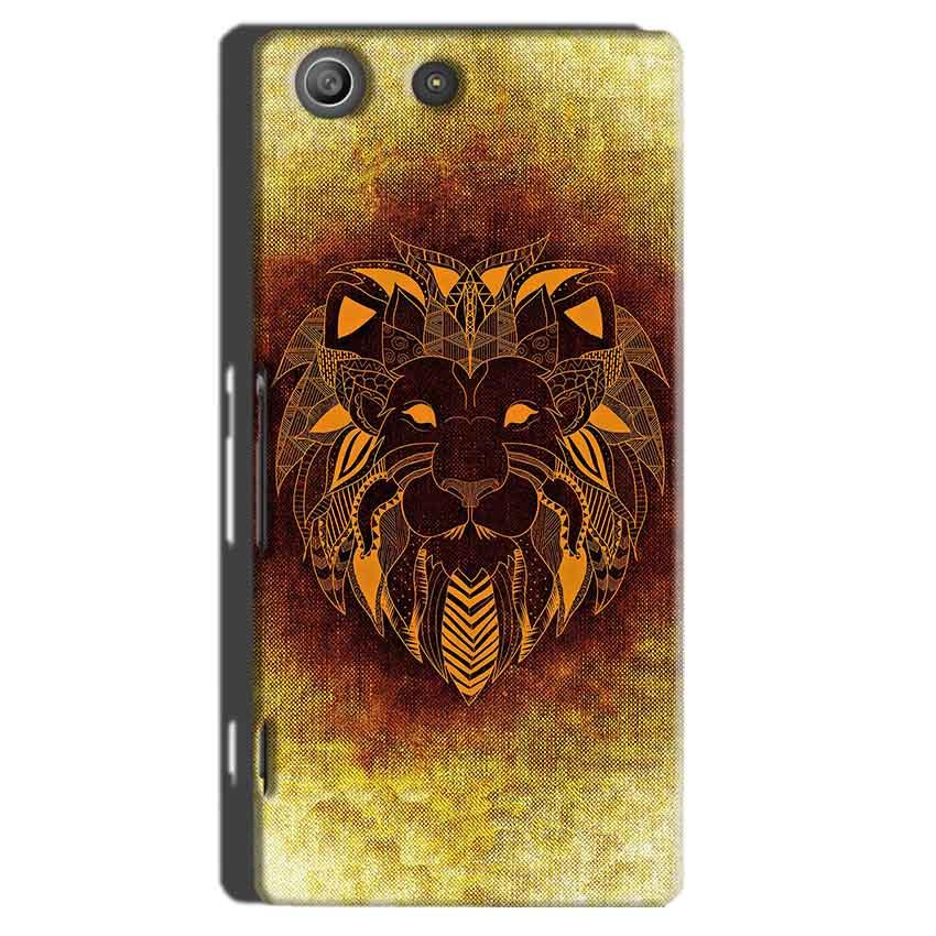 Sony Xperia M5 Pro Mobile Covers Cases Lion face art - Lowest Price - Paybydaddy.com