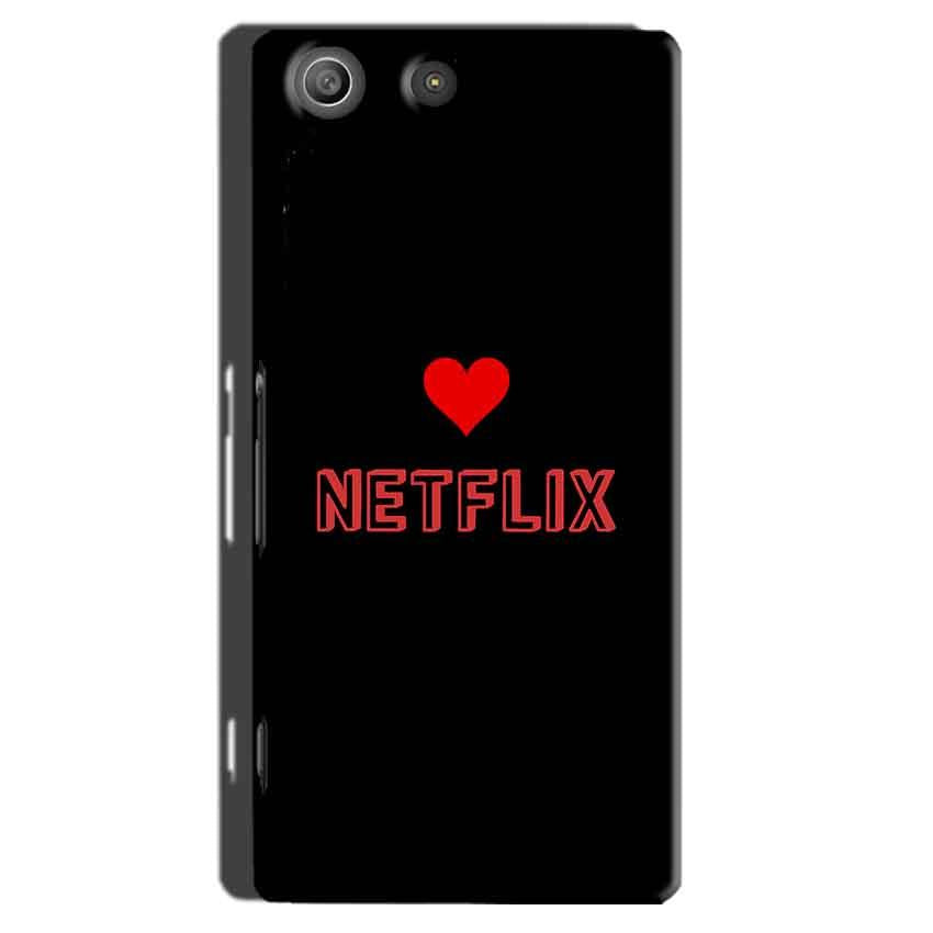 Sony Xperia M5 Pro Mobile Covers Cases NETFLIX WITH HEART - Lowest Price - Paybydaddy.com