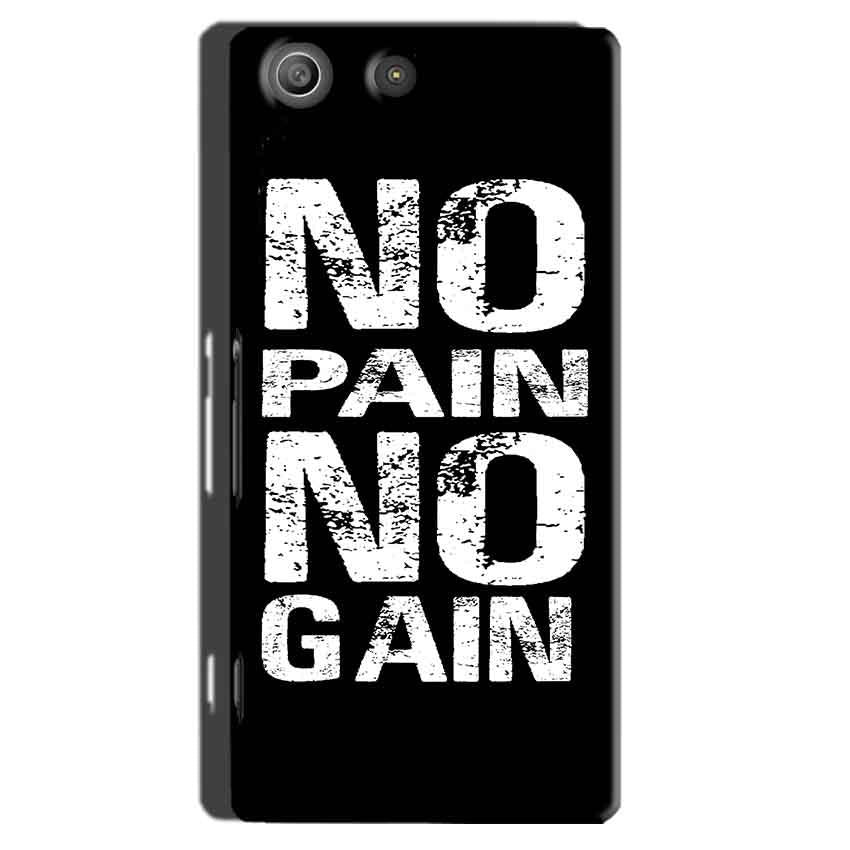 Sony Xperia M5 Pro Mobile Covers Cases No Pain No Gain Black And White - Lowest Price - Paybydaddy.com