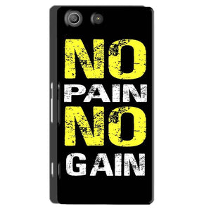 Sony Xperia M5 Pro Mobile Covers Cases No Pain No Gain Yellow Black - Lowest Price - Paybydaddy.com