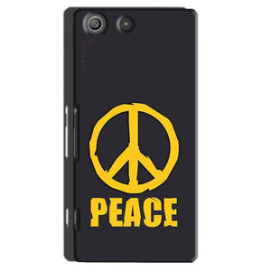 Sony Xperia M5 Pro Mobile Covers Cases Peace Blue Yellow - Lowest Price - Paybydaddy.com