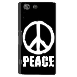Sony Xperia M5 Pro Mobile Covers Cases Peace Sign In White - Lowest Price - Paybydaddy.com