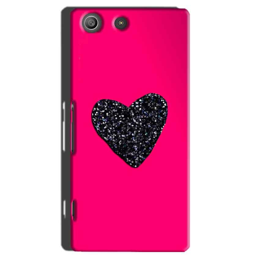 Sony Xperia M5 Pro Mobile Covers Cases Pink Glitter Heart - Lowest Price - Paybydaddy.com