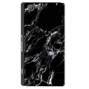 Sony Xperia M5 Pro Mobile Covers Cases Pure Black Marble Texture - Lowest Price - Paybydaddy.com