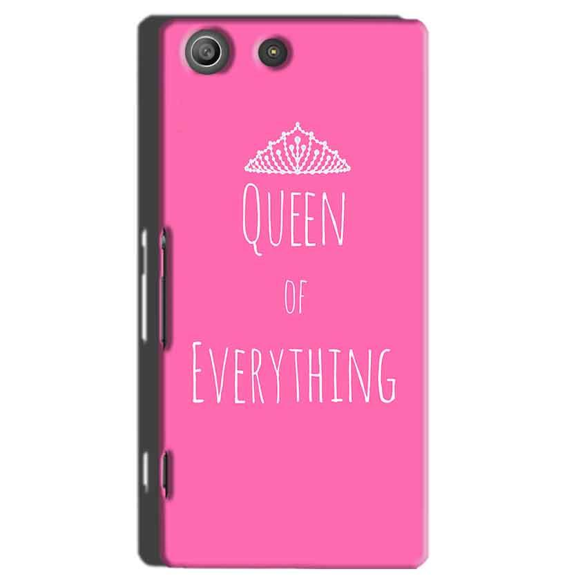 Sony Xperia M5 Pro Mobile Covers Cases Queen Of Everything Pink White - Lowest Price - Paybydaddy.com