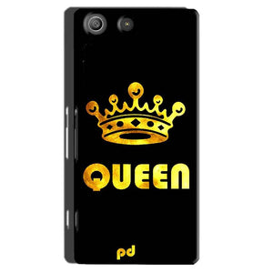 Sony Xperia M5 Pro Mobile Covers Cases Queen With Crown in gold - Lowest Price - Paybydaddy.com