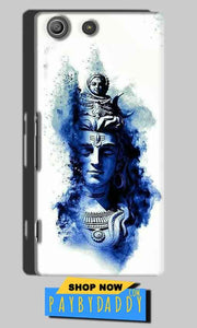 Sony Xperia M5 Pro Mobile Covers Cases Shiva Blue White - Lowest Price - Paybydaddy.com