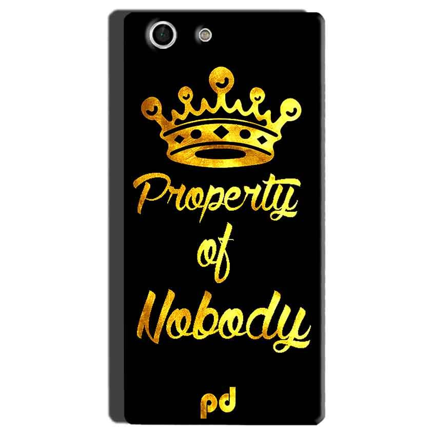 Sony Xperia M5 Mobile Covers Cases Property of nobody with Crown - Lowest Price - Paybydaddy.com