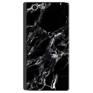Sony Xperia M5 Mobile Covers Cases Pure Black Marble Texture - Lowest Price - Paybydaddy.com