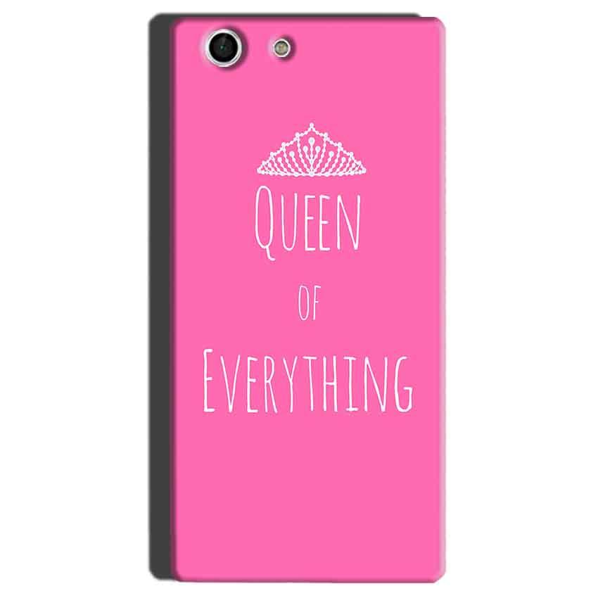 Sony Xperia M5 Mobile Covers Cases Queen Of Everything Pink White - Lowest Price - Paybydaddy.com
