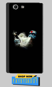 Sony Xperia M5 Mobile Covers Cases Shiva Aghori Smoking - Lowest Price - Paybydaddy.com