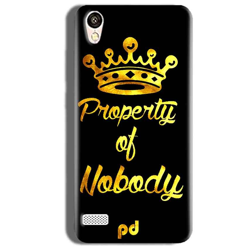 Vivo 31L Mobile Covers Cases Property of nobody with Crown - Lowest Price - Paybydaddy.com