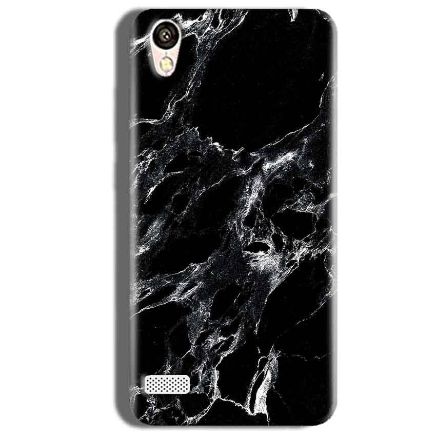 Vivo 31L Mobile Covers Cases Pure Black Marble Texture - Lowest Price - Paybydaddy.com