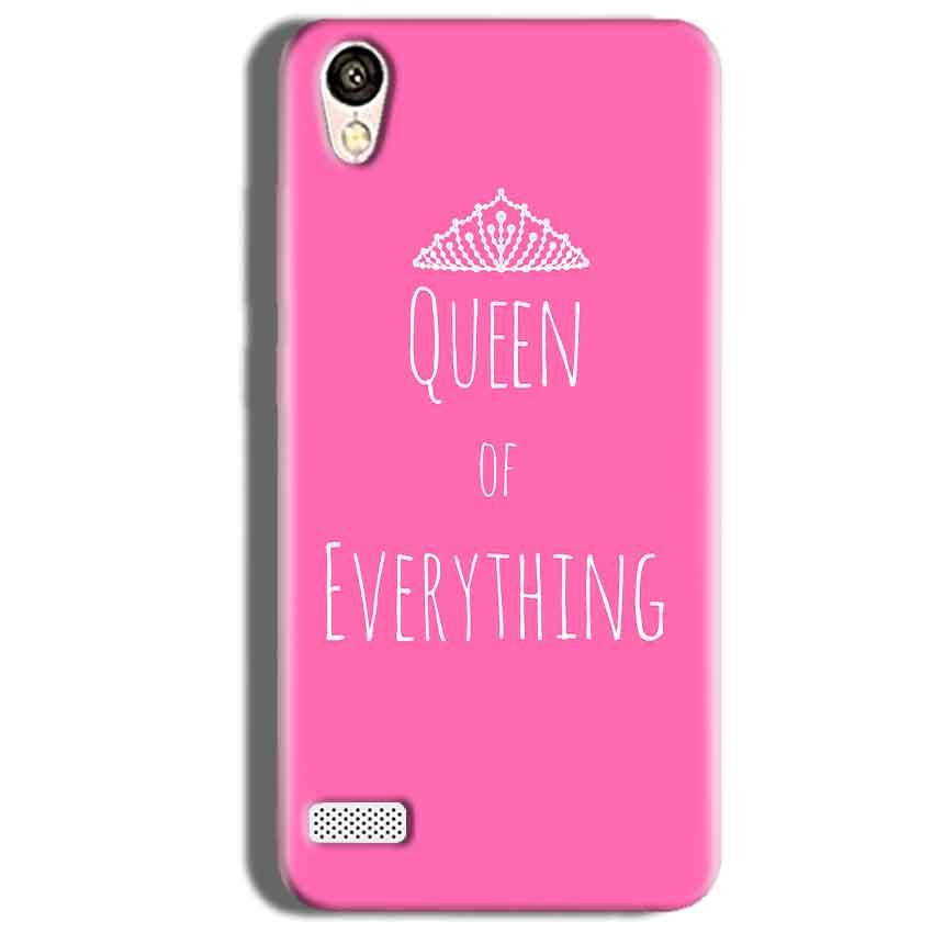 Vivo 31L Mobile Covers Cases Queen Of Everything Pink White - Lowest Price - Paybydaddy.com
