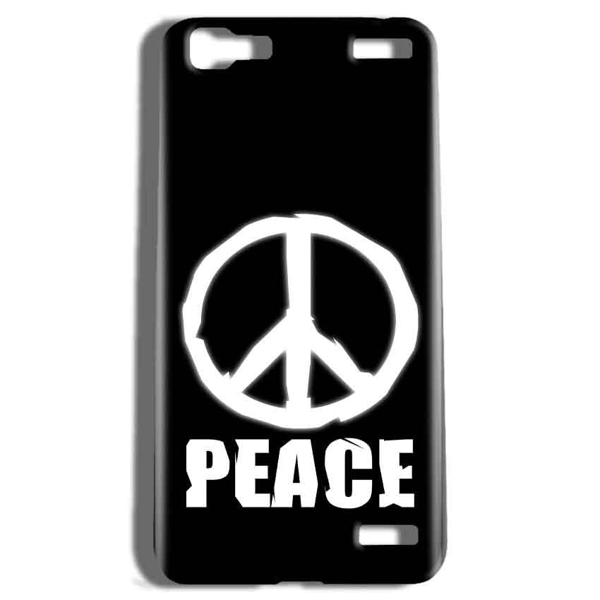 Vivo V1 Max Mobile Covers Cases Peace Sign In White - Lowest Price - Paybydaddy.com