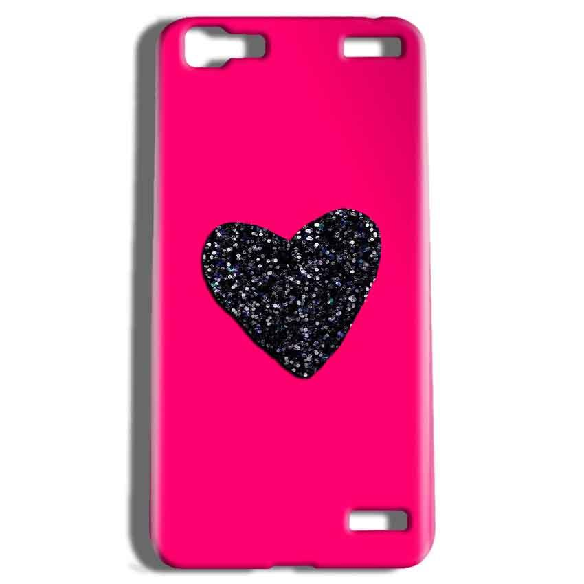 Vivo V1 Max Mobile Covers Cases Pink Glitter Heart - Lowest Price - Paybydaddy.com